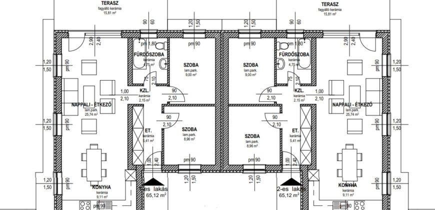 Szigethalmon Új építésű ikerház eladó!