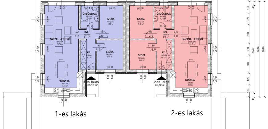 Kiváló elrendezésű új építésű ikerházak Áporkán!