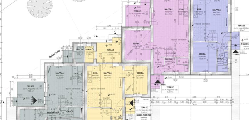 Szigetszentmártonban, új építésű, nappali+4 szobás, kétszintes sorházi lakás!